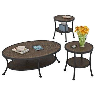 Millwood Pines Alisa 3 Piece Coffee Table Set