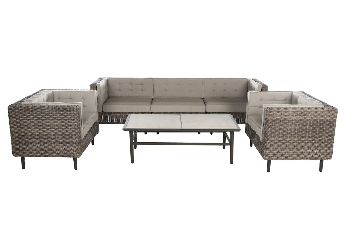 Kenneth 6 Piece Patio Deep Seating Group