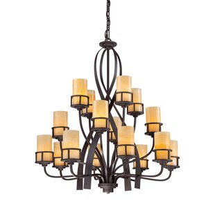 Loon Peak Colby 16-Light Shaded Chandelier