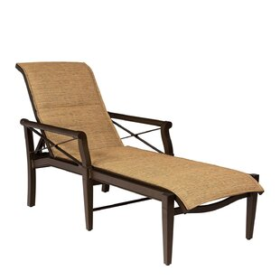 Woodard Andover Padded Sling Adjustable Chaise Lounge