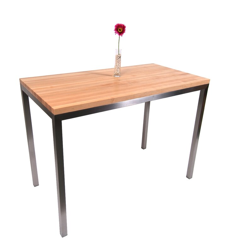 Lovely Metropolitan Designer Prep Table With Wood Top