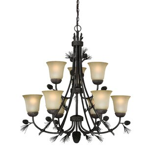 Millwood Pines Stricklin 9-Light Shaded Chandelier