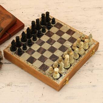 Bloomsbury Market Cochranville Brain Power Wood Chess Wayfair