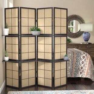 Ellayne 4 Panel Room Divider & Shelves Included Room Dividers You\u0027ll Love   Wayfair