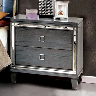 Crook 2 Drawer Nightstand