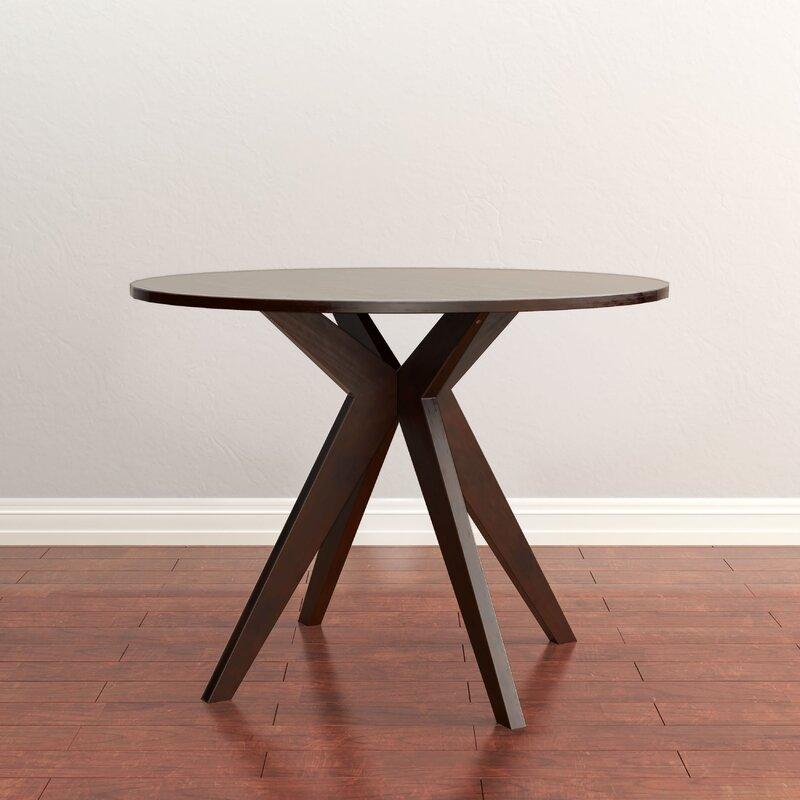 Wrought Studio Goza MidCentury Modern Round Counter Height Pub - Mid century modern pub table