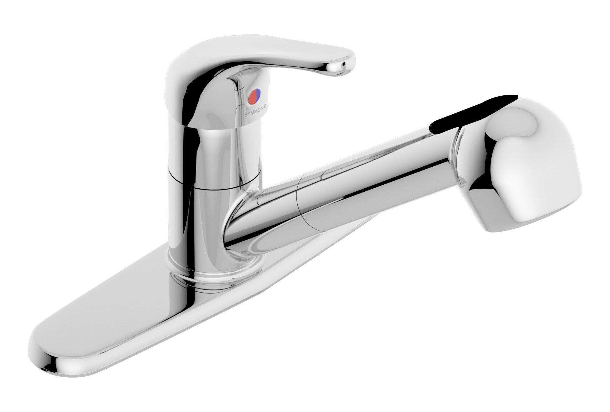 Symmons Unity Pull Out Single Handle Kitchen Faucet Wayfair