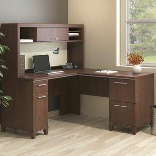 Bush Business Furniture Enterprise Corner 2 Piece L-Shaped Desk Office Suite