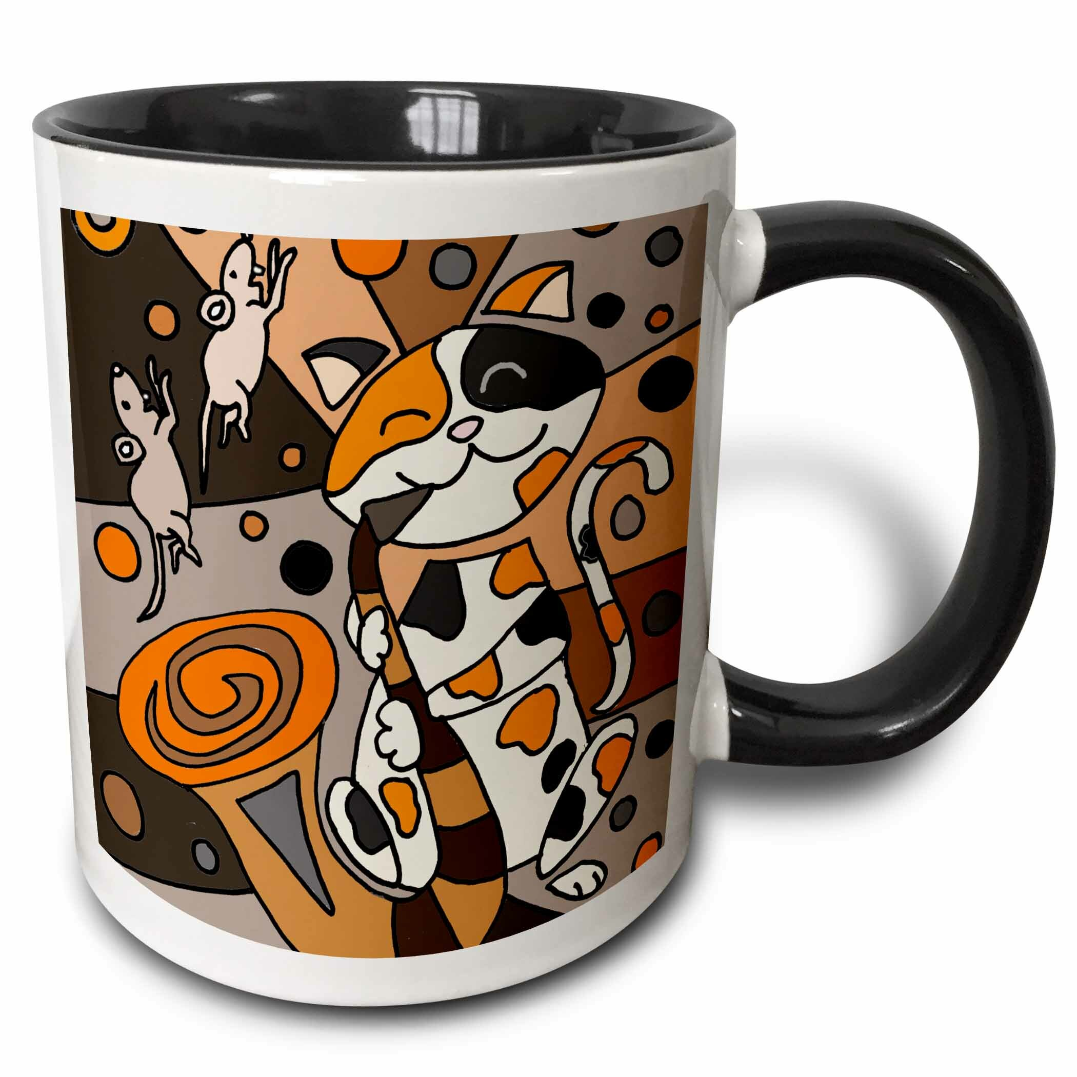 Cat Coffee Mug Personalized at No Charge and signed by the Artist