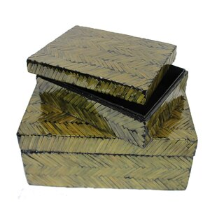 Bargain Manufactured Wood 2 Piece Box Set ByBayou Breeze