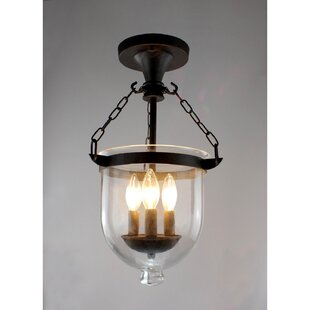 Franks 3-Light Semi Flush Moun..