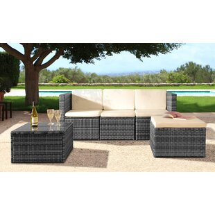 Kimberly 4 Seater Rattan Corner Sofa Set With Cover Image