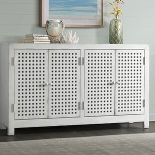 Isherwood Four Door Pierced Grid Sideboard by Highland Dunes