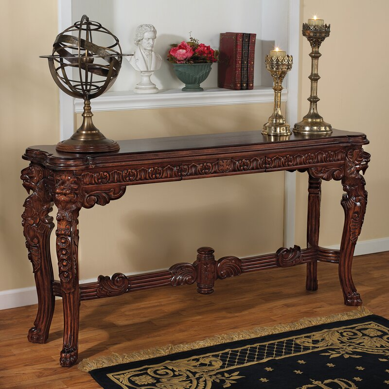 Lord Raffles Grand Hall Lion Leg Console Table