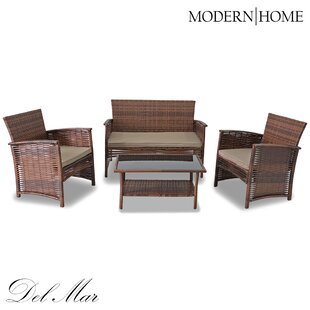 Anton 4 Piece Sofa Set with Cushions