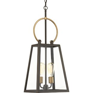 Read Reviews Celandine 2-Light Outdoor Hanging Lantern By Wrought Studio