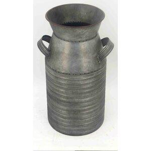 Galvanized Metal Table Vase