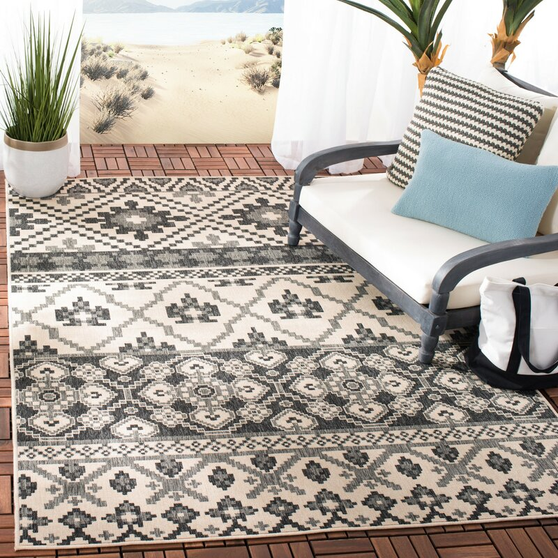 Easterwood Gray Indoor Outdoor Area Rug