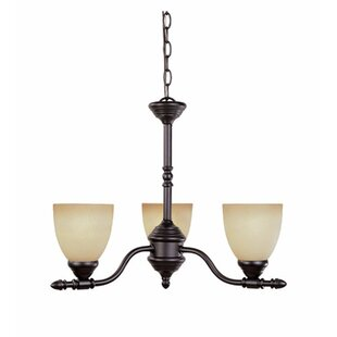 Charlton Home Hurlbert 3-Light Shaded Chandelier