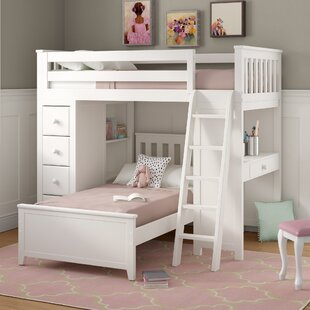 Ayres Twin L-Shaped Bunk Bed with Drawers by Harriet Bee