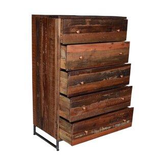 Milledgeville 5 Drawer Standard Dresser/Chest by Millwood Pines