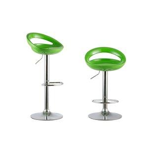Adjustable Height Swivel Bar Stool Set (Set of 2) Attraction Design Home