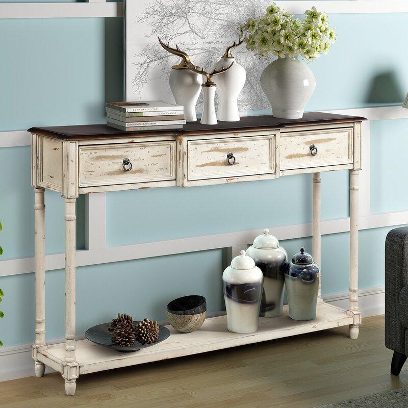 Rosalind Wheeler Glendive 51 57 Solid Wood Console Table Wayfair