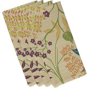 Orchard Lane Botanical Floral 10 Napkin (Set of 4) by Alcott Hill