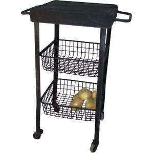 Rolling Utility Kitchen Cart with Stainle..