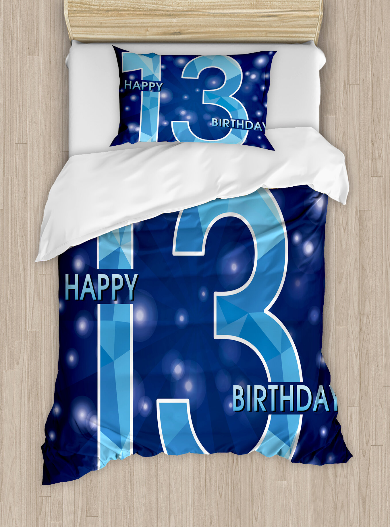 Ambesonne 13th Birthday Decorations Duvet Cover Set