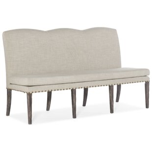 Upholstered Dining Bench With Skirt