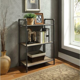 17 Stories Croce Industrial 3 Tier Shelf Etagere Bookcase