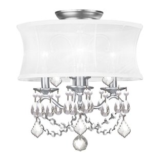 Read Reviews Aron Convertible 3-Light Drum Chandelier By Willa Arlo Interiors