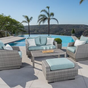Wade Logan Castelli 5 Piece Sunbrella Sofa Set with Cushions