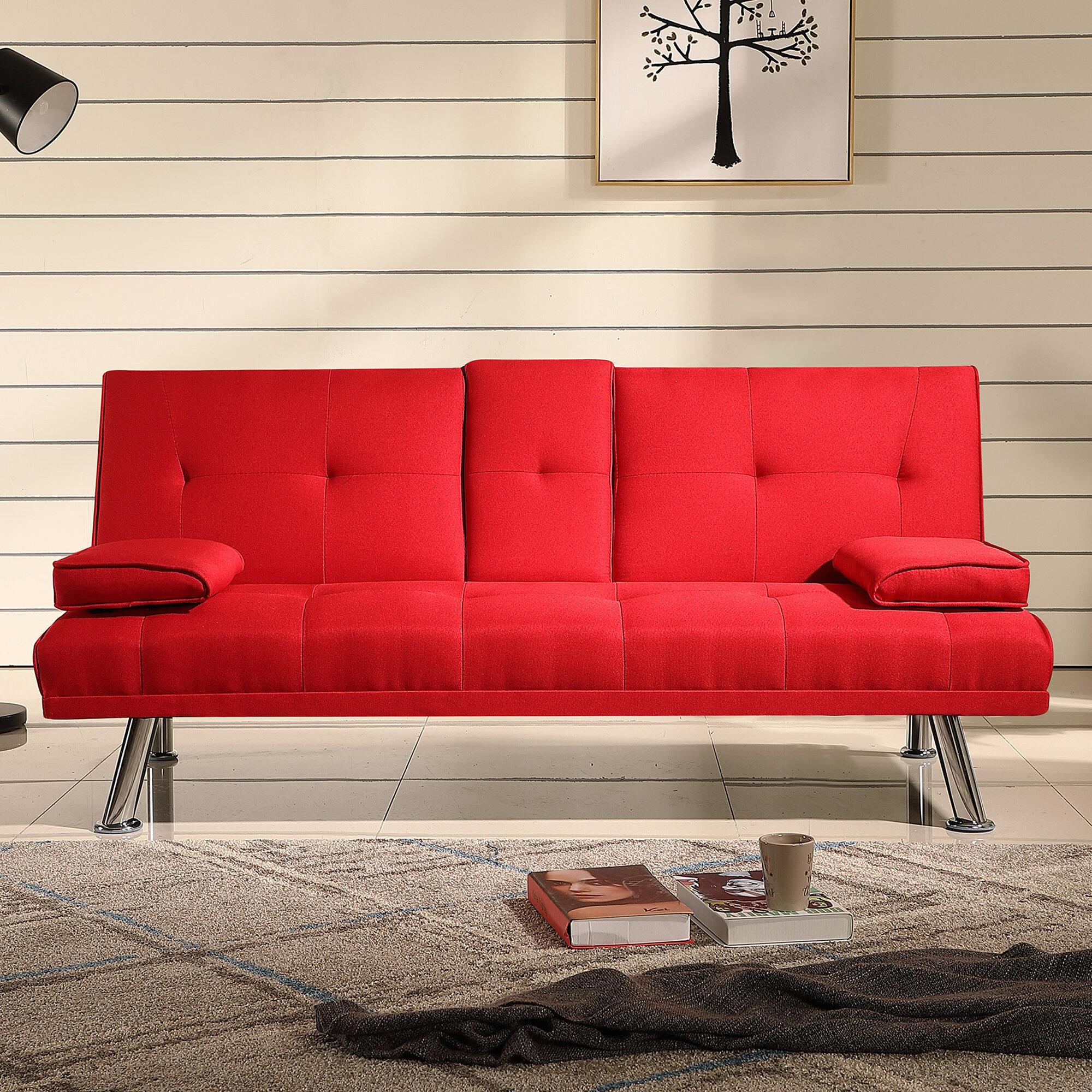 Orren Ellis Yazan Twin Or Smaller Tufted Back Convertible Sofa Wayfair