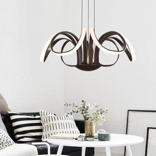 Fairbury 6-Light LED Geometric Chandelier by Orren Ellis