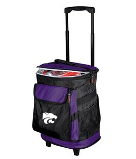 24 Can Collegiate Rolling Cooler - Kansas State By Logo Brands