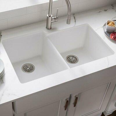 "Bathroom Sinks Regina elkay quartz classic 33"" x 18.75"" undermount kitchen sink"