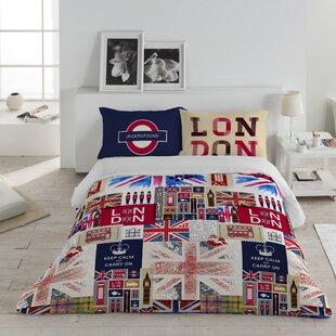Ebern Designs Great Britain Cotton 3 Piece Queen Duvet Set