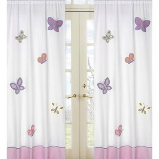 Erfly Wildlife Semi Sheer Rod Pocket Curtain Panels Set Of 2