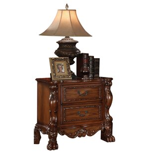 Astoria Grand Meyers Traditional Wooden 2 Drawer Nightstand