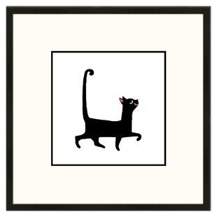 Sassy Cat Framed Graphic Art