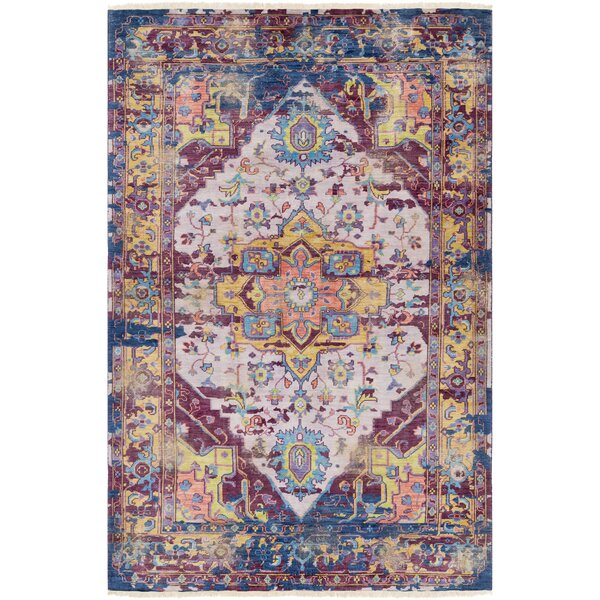 Bungalow Rose Makenna Hand Knotted Eggplant Lilac Area Rug Reviews Wayfair