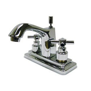 Kingston Brass Elinvar Centerset Bathroom Faucet with Brass Pop-Up Drain
