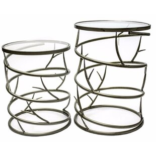 Union Rustic Penland Spiky 2 Piece Nesting Tables
