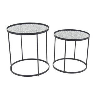 Gledhill Modern Round 2 Piece End Table Set by Bungalow Rose