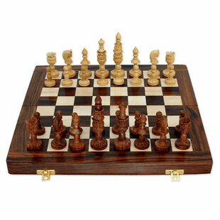 Wood Chess Game Set With Storage