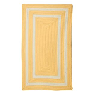 Marti Hand-Woven Outdoor Yellow Area Rug By Bay Isle Home