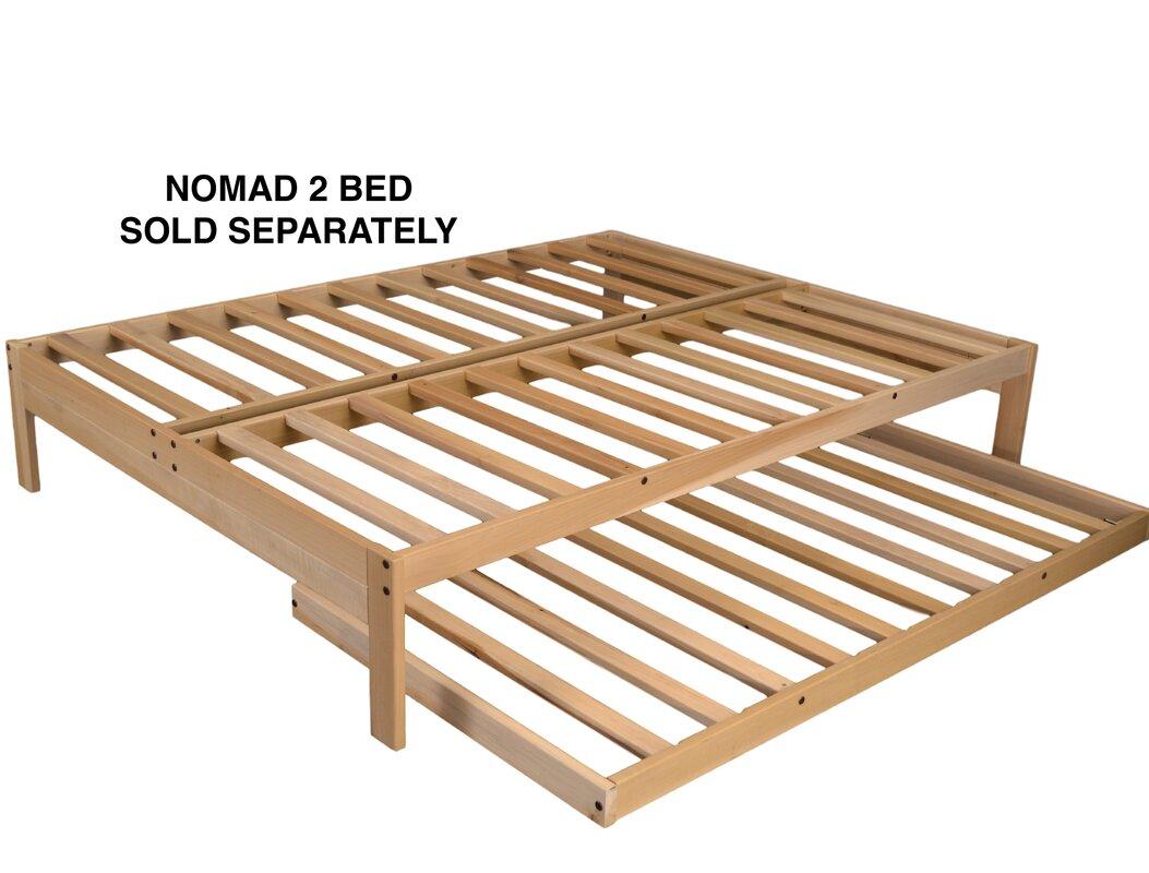 kd frames nomad  platform bed with trundle  reviews  wayfair - defaultname