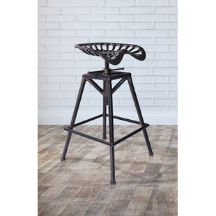 Hoggan Adjustable Height Swivel Bar Stool